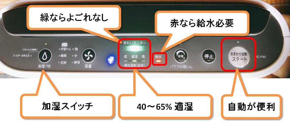 シャープ空気清浄機kc F40レビュー インフルや花粉に効果あるか検証 50のてならい